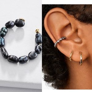 NWOT Anthropologie baublebar grey pearl clip